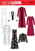 6305 New Look Pattern: Misses' Dress and Long or Short Jacket